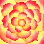 Flame Tip Flower Watercolor