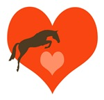 hunter/jumper horse:horse heart t-shirts and gifts