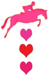 jumping horse & hearts