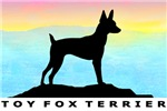 Toy Fox Terrier Sunset Seaside