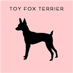 Toy Fox Terrier Retro Pink & Black