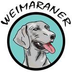 weimaraner circle portrait