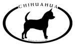 Oval Chihuahua With Text