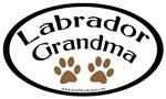 Labrador Grandma Oval