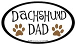 Dachshund Dad Oval