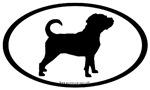 Puggle Dog Oval