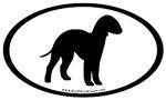 Bedlington Terrier Dog Breed Oval Stickers