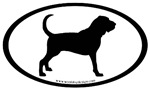 Bloodhound Dog Breed Oval Sticker Selections