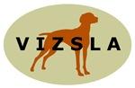 Vizsla Dog Oval Sticker Selections
