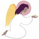 Angels kneeling