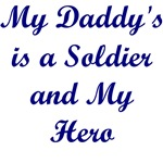 My Daddy's A Hero Gifts, Bibs, T-shirts