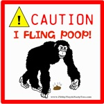 CAUTION: I Fling Poop