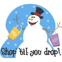 Shop Til You Drop Snowman T-Shirts Gifts