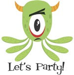Cool Let's Party! Monster Cyclops T-Shirts Gifts