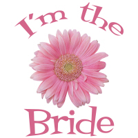 Bride Gerber Daisy Pink Wedding Apparel T Shirts