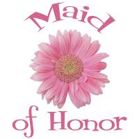 Maid of Honor Wedding Apparel Gerber Daisy Pink