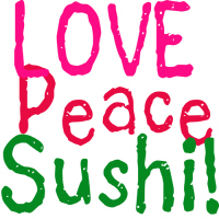Love Peace Sushi Cool T Shirts and Gifts