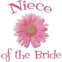 Niece of the Bride Wedding Apparel Gerber Daisy