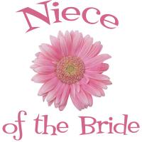 Niece of the Bride Wedding Apparel Gerber Daisy