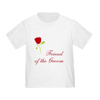 Wedding Party Red Rose Friend of the Groom T Shirt