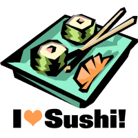 I Love Sushi California Roll T-Shirts Gifts