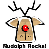 Rudolph Rocks Reindeer T-Shirts Gifts