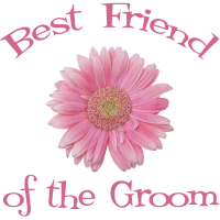 Groom's Best Friend Daisy Pink Wedding Apparel