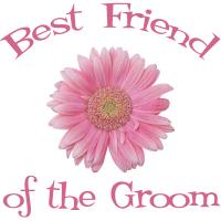 Groom's Best Friend Daisy Pink Wedding Apparel