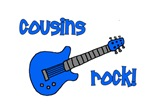 Cousins Rock! Blue Guitar
