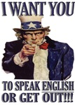 Speak English Uncle Sam