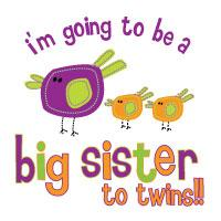 big sister of twins to be