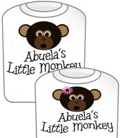 Abuela's Little Monkey T-Shirt GIRL & Boy