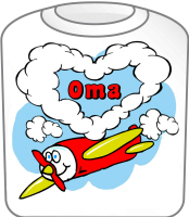 Love Oma Cute Airplane