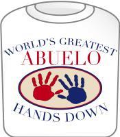 Best Abuelo Hands Down T-shirt Design