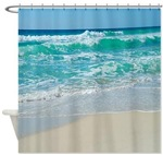 Beach Scene Shower Curtains