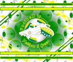 Yellow and Green Football Soccer