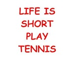 a funny tennis joke on gifts and t-shirt.
