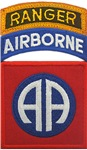 82nd ABN DIV with Ranger Tab Patch
