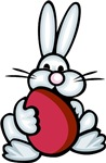 Bunny w/Red Egg