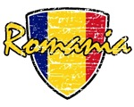 Romanian distressed Flag