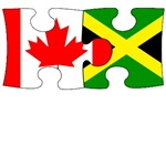 Canadian Jamaican Flag