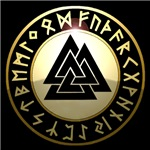 valknut rune shield