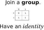 A Math shirt for the Algebra lovers out there. Who says group theory can't be funny?  Join a group.  Have an identity.