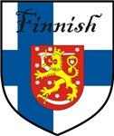 Finnish Flag Crest Shield