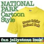 National Park T-Shirts: Cartoon Style