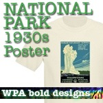 National Park T-Shirts: WPA Posters