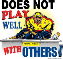 Does Not Play Well Hockey T Shirts