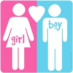 GIRL HEART BOY t-shirts and gifts