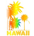 Hawaii Palm Trees | Tropical Rainbow Hawaiian T-shirts & Gifts