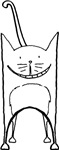 Smiling Cat Graphic